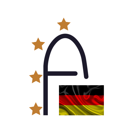 Logotipo de ensino língua alemã