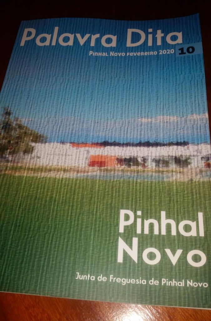 """Capa de Livro """"Palavra Dita"""" Pinhal Novo Edição Junta de Freguesia do Pinhal Novo"""