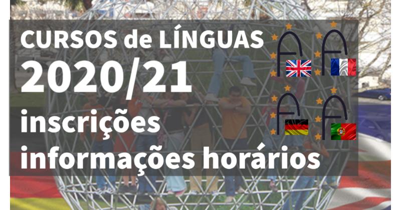 Cursos de Línguas Matrículas abertas 2020.21
